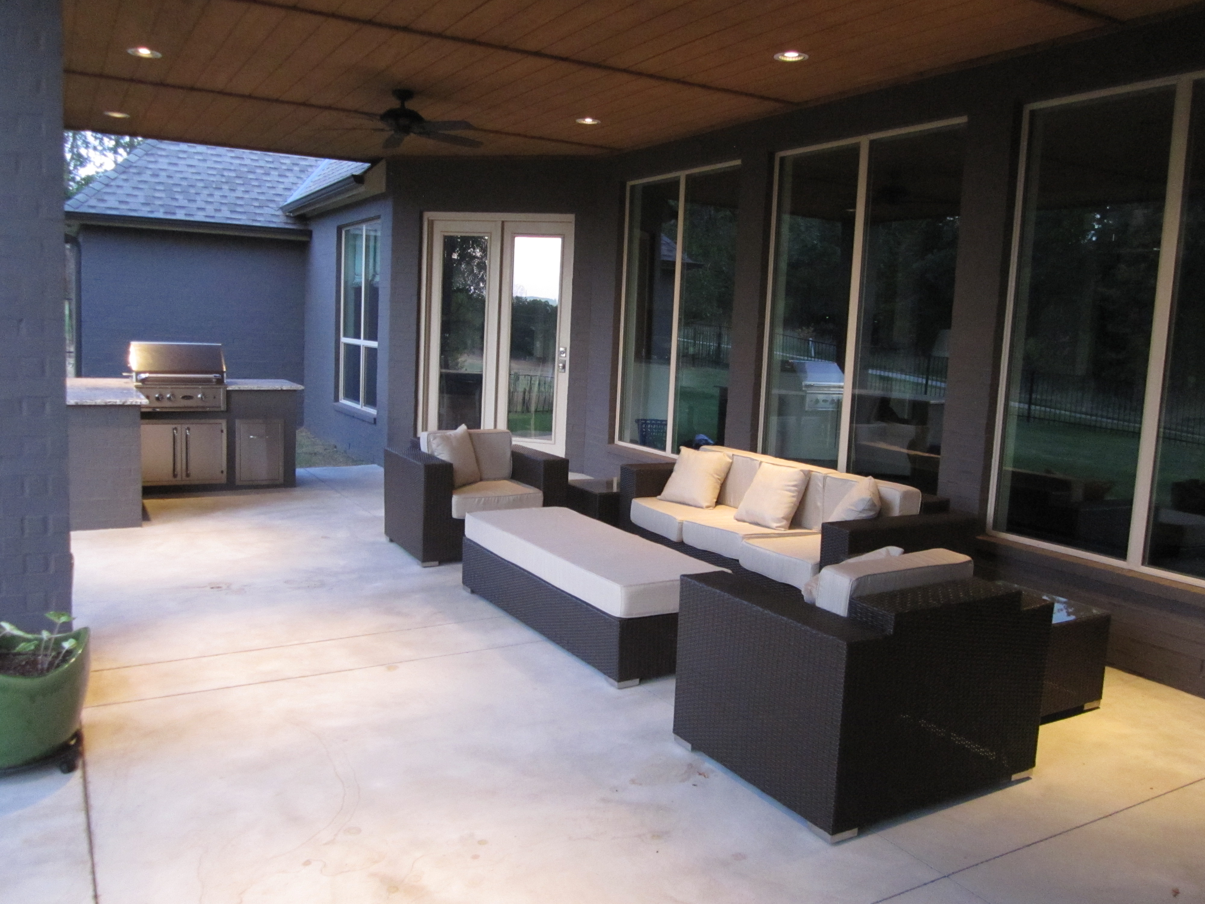 Back Porch Furniture, Maybe It Will Cool Off And We Can Actually Sit Out  There!